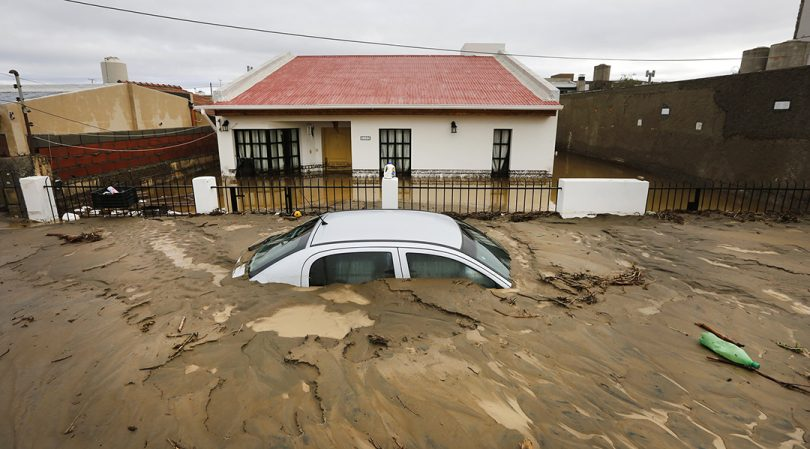 inundacion EN COMODORO RIVADAVIA, BARRIO JUAN XXIII  FOTO RICARDO PRISTUPLUK